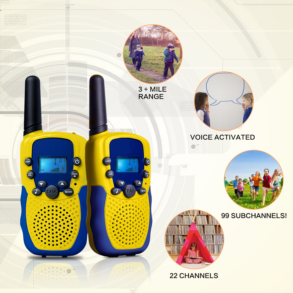 2pcs/Lot Children Outdoor Electronic Interphone Novelty Kids Toys Watch Walkie Talkie Intercom Gifts Toy(Europe Frequency)