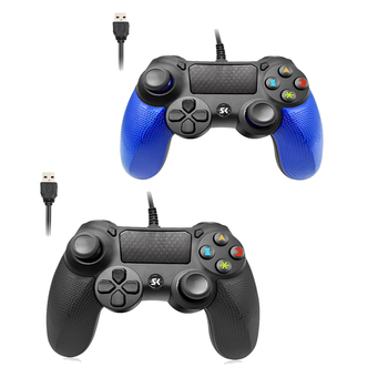 2Packs Wired Joystick Game Controller long Warranty For PS4 Joystick Joypad Double Joystick Gamepads For Play Station 4 gamepad usb wired gamepad for playstation 4 joystick gamepads double shock joypad for pc for ps4 controller 2 2m cable for ps3 console