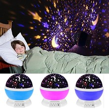 Night Light Projector Starry Sky Light Battery/USB Operated Colorful Dream Rotating Projection Lamp For Children Baby Bedroom usb led new year night light sky starry rotating star projector lamp baby bedroom decor children kid night light for christmas