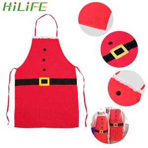 HILIFE Рождественское украшение для праздника кухонные принадлежности для взрослых и детей Новогодний кулон Санта Клаус фартук 1 шт