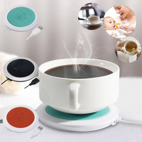 USB Silicone Heat Warmer Electric Insulation Coaster Cup Warm Heater Mat For Mug Baby Milk Warmer