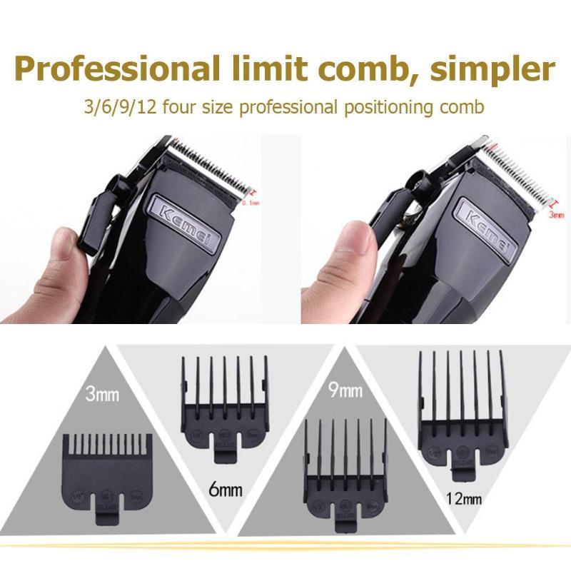 Kemei KM-2850 professionnel tondeuse à cheveux électrique puissant sans fil tondeuse à cheveux Machine de découpe coupe de cheveux outils de coiffure - 4