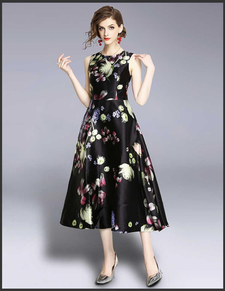 34b03ced70a Women Summer Vintage Fashion Floral Tank Dress Elegant Women Work Wear  Office Dress