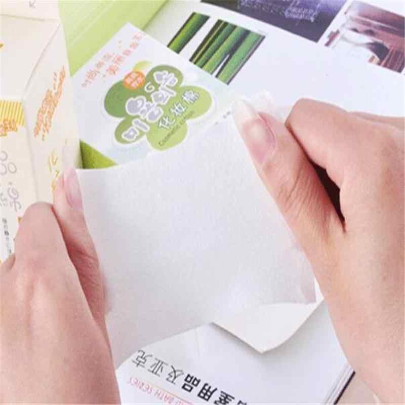 100 ピース/箱洗顔拭く綿パッド紙クリーニングマニキュアリムーバー化粧ティッシュメイク美容スキンケアツール
