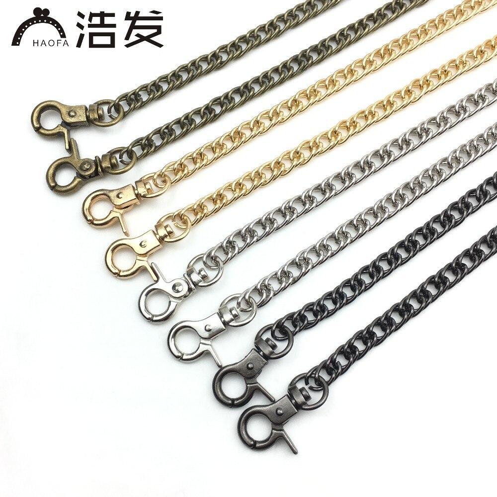 HAOFA 120CM Bag Belt Metal Double Weaving Chain Cross Shoulder Replacement Handle High-grade Clamp Buckle Handbag Accessories