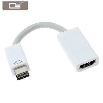 CYDZ 10cm HDMI Female Video to Mini DVI Male Adapter Cable for Apple Mac book iMac Mac 3in1 rectangle mini display port dp thunderbolt to dvi vga hdmi converter adapter for apple imac mac mini pro air book