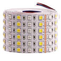 Светодиодная лента 5 м RGB 5050 SMD 12 В 24 В постоянного тока RGBW RGBWW RGB WWA RGB + CCT гибкая светодиодная лента в полоску для украшения праздника