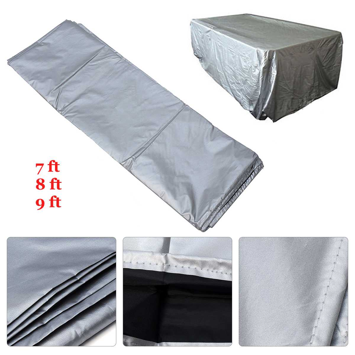 7/8/9 Foot Universal Waterproof DustProof Cloth for Rectangle-Shaped Pool Table Billiard Cover Tableclo Snooker Accessory7/8/9 Foot Universal Waterproof DustProof Cloth for Rectangle-Shaped Pool Table Billiard Cover Tableclo Snooker Accessory