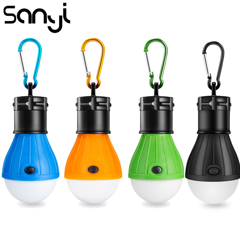 SANYI  Tent Lamp Portable Lantern For Camping LED Bulb Power Supply 3xAAA Battery Hunting Night Fishing Working Light