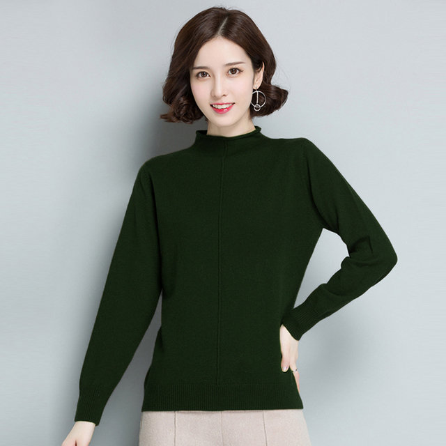 2e4a5f7d8c Women Knitted Sweater Fashion Long Sleeve Turtleneck Jumper Basic Tops  Spring Autumn Femlae Elastic Slm Fit