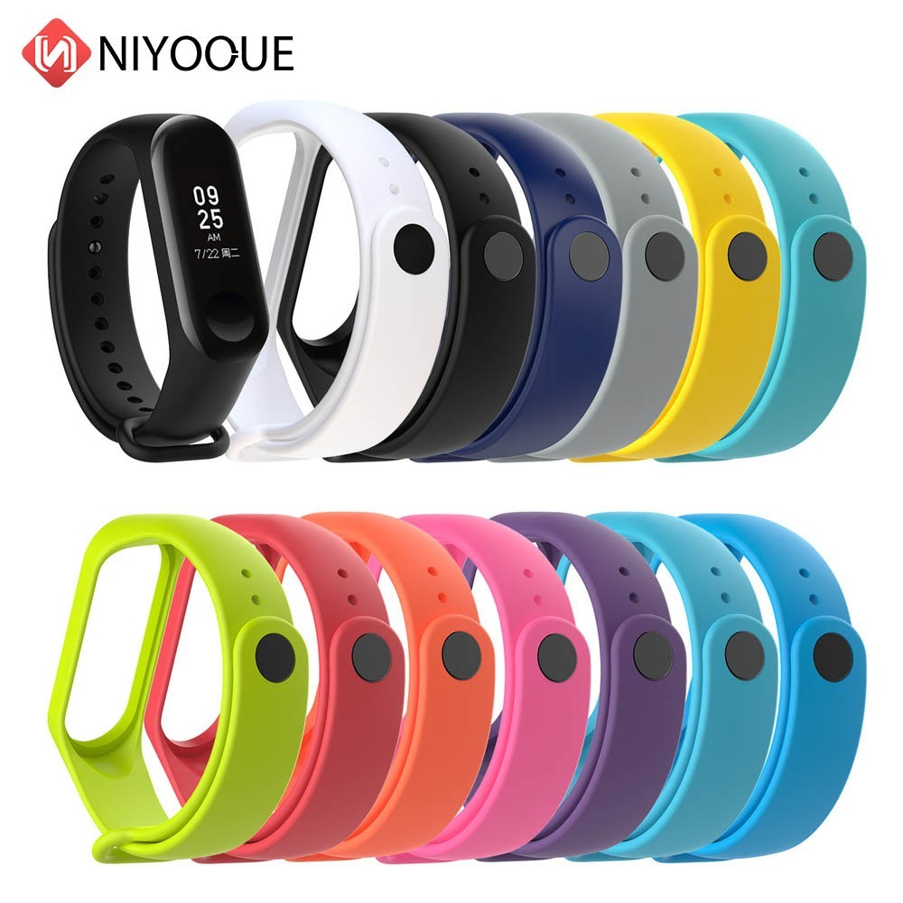 NIYOQUE For Xiaomi Band 3 Strap Bracelet Replacement Wristband Band Xiaomi Mi Band 3 Straps Silicone Wrist Strap