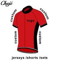 CHEJI индивидуальная одежда для велоспорта высокого качества Прямая продажа с фабрики бицилсе Джерси нагрудник шорты набор дышащий Быстросо