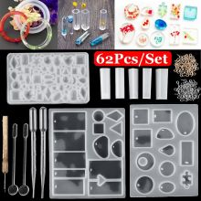 1 Set Silicone Mold Mould Epoxy Resin Crafts Molds DIY Jewelry Making Tools Bracelet Pendant Earrings Jewelry Casting Molds Kit