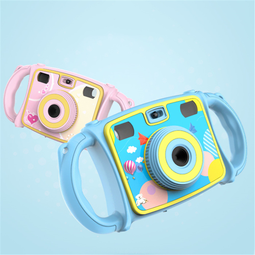 High-Strength Anti-Drop Silicone Design Toys Cameras Cartoon Dual Lens Zoom Digital Camera Photo Toy Double Window Framing Gifts