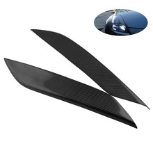 Carbon Fiber Headlight Eye Lid Eyelids Cover 3D Car Sticker Fit for Nissan 03-08 350Z Z33 Fairlady