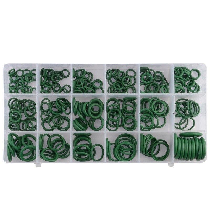 SPEEDWOW 270 шт резиновое уплотнительное кольцо для автомобиля система кондиционирования воздуха Газ Водонепроницаемость маслостойкий инструмент 18 размеров уплотнительное кольцо шайба уплотнения