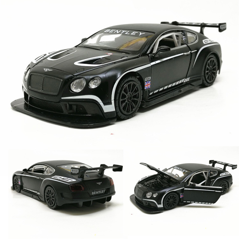 2019 Hot 1:32 Bentley Continental GT3 Alloy Car Diecasts Vehicles Model Pull Back Sound Light Gift Collection Toys For Children