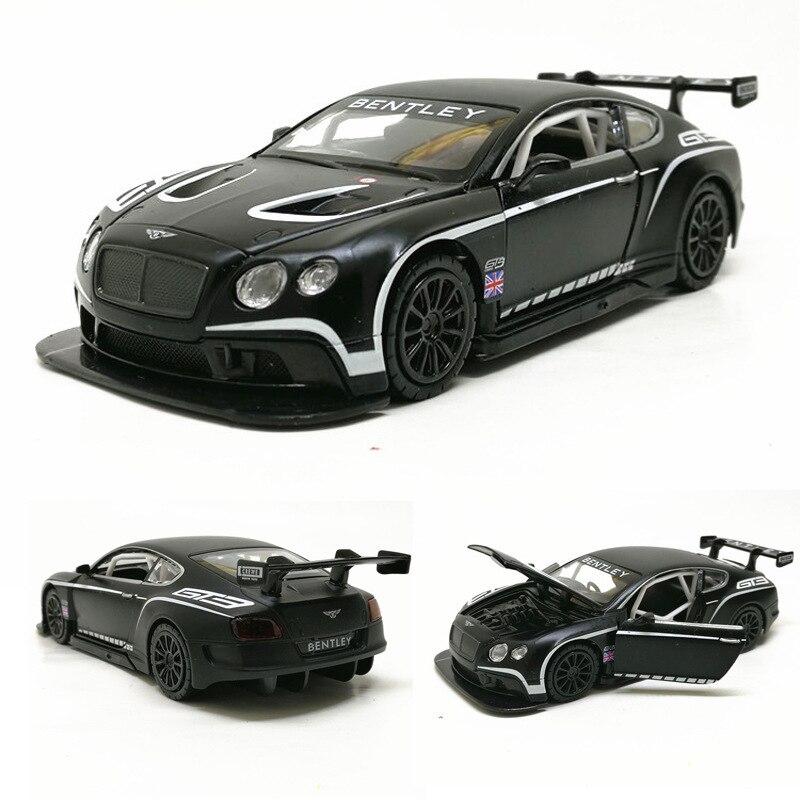 2019 Hot 1:32 Bentley Continental GT3 Carro Liga Diecasts Veículos Modelo Pull Back Som Luz Presente Coleção de Brinquedos Para As Crianças