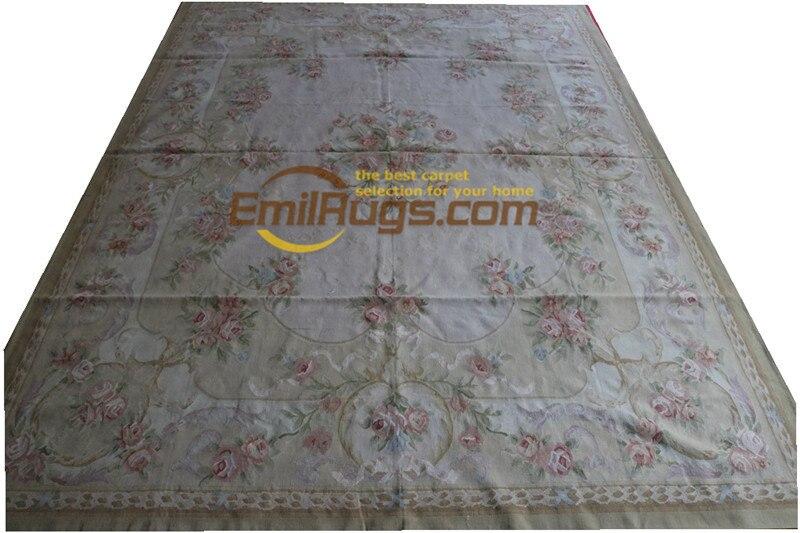 Tapis en laine tissée à la main Pure tapis aubusson français 274 CM X 366 CM 9X12 8 9x12 (1) gc168aubyg28