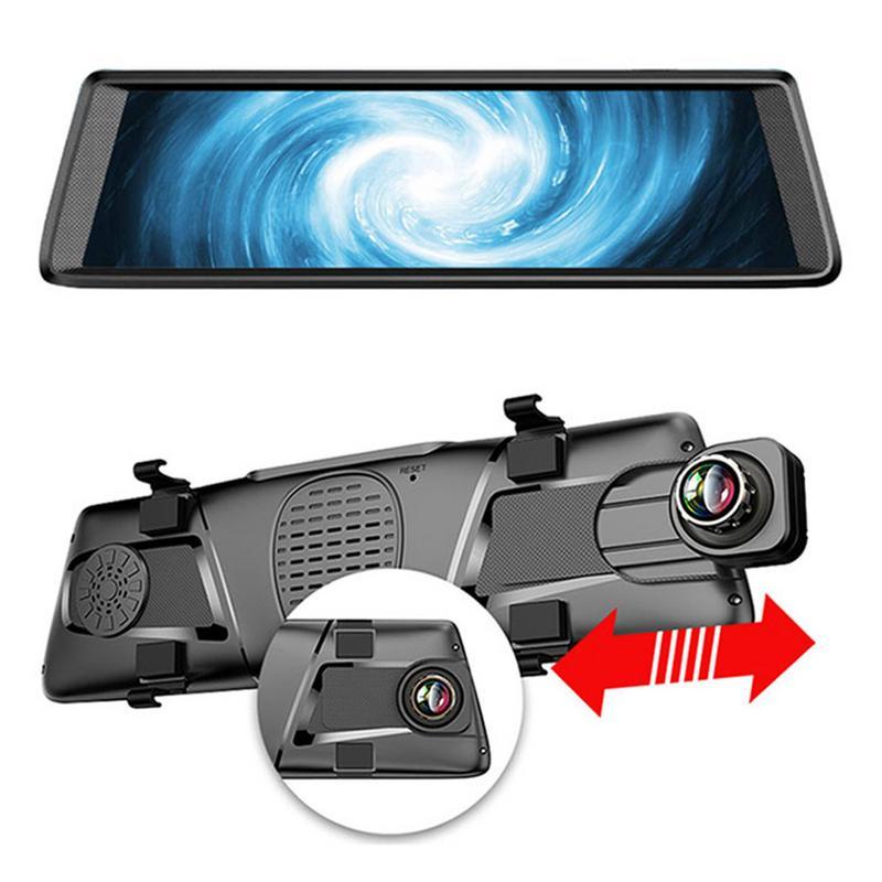 1 PC 10 pouces IPS 4G Dash Cam écran tactile voiture DVRS pour Android ADAS GPS FHD 1080 P WIFI rétroviseur navigateur E05
