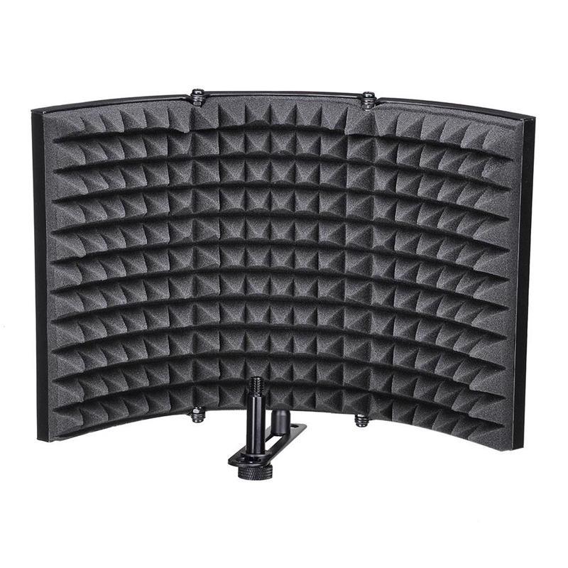 Dobrável Estúdio de Gravação Microfone Escudo de Isolamento Painel De Espuma Absorvente de Som