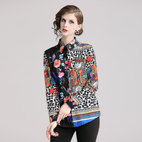 Blusas camisa primavera estampado multicolor manga larga 1