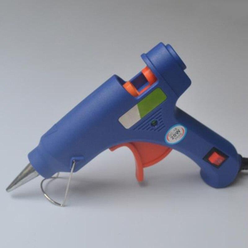 20 Вт США ЕС Plug термоклей пистолет промышленных мини Пистолеты термо-электрический тепла Температура инструмент Горячая триггер ремонт инструмент Клей
