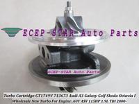 Free Ship Turbo CHRA Cartridge GT1749V 713673 5006S 713673 For Audi A3 Galaxy Golf Sharan Skoda Octavia AUY ASV 1.9L TDI 115HP