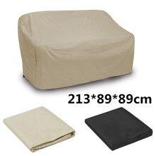 Waterproof Polyester Sofa Protection Set Outdoor Garden Furniture Rain Cover Garden Patio Rain Snow Dustproof Covers Black Khaki