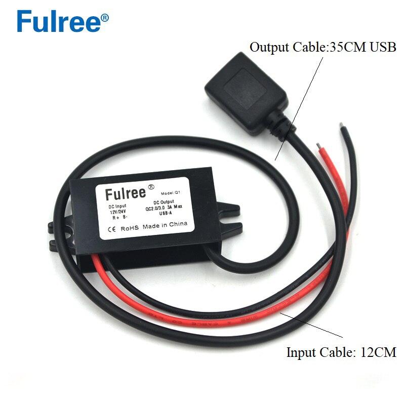 1Pc USB 12V to 5V DC//DC voltage step-down power adapter converter inverter H4