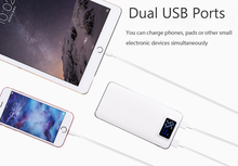 External Battery Power Bank for Xiaomi Mi IPhone,Pover 10000mAh LED Display Powerbank Fast Charger