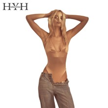 HYH HAOYIHUI  Femme Women Shorts Top Bodycon Sexy Stripper Lace Bodysuit Costumes Transparent Overall Jumpsuit
