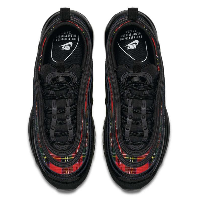 Nike Air Max 97 Bala das Mulheres Running Shoes Novo Padrão de Movimento Sapatos Casuais Almofada de Ar Tênis Esportes Ao Ar Livre # AV8220-001