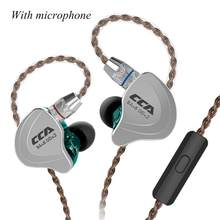 CCA C10 Circle Iron Earphone Ten Unit Bass In - Ear Balance Mobile Iron Sports Phone Universal Wire Control CCA C10 Coil Wired E(China)
