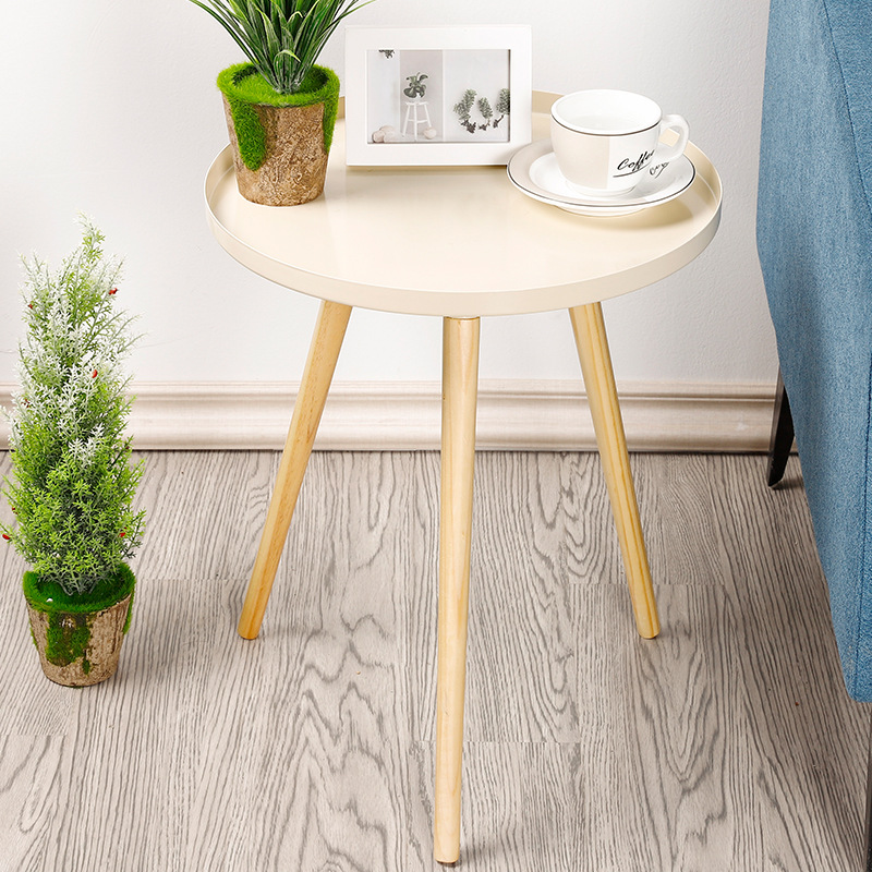 US $94.85 51% OFF|Nordic Table Living Room Apartment Bedroom Corner Desk  Home Furniture Small DIY Assembly Tea Table Round Simple Coffee Table-in ...
