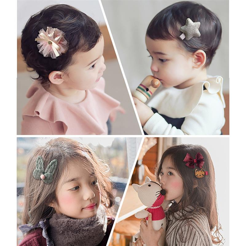 18Pcs Set Children 39 s Hair Jewelry Set Cute Girls Jewelry Gift Box Rubber Band Hair Clips Ribbons Hair Accessories in Hair Accessories from Mother amp Kids