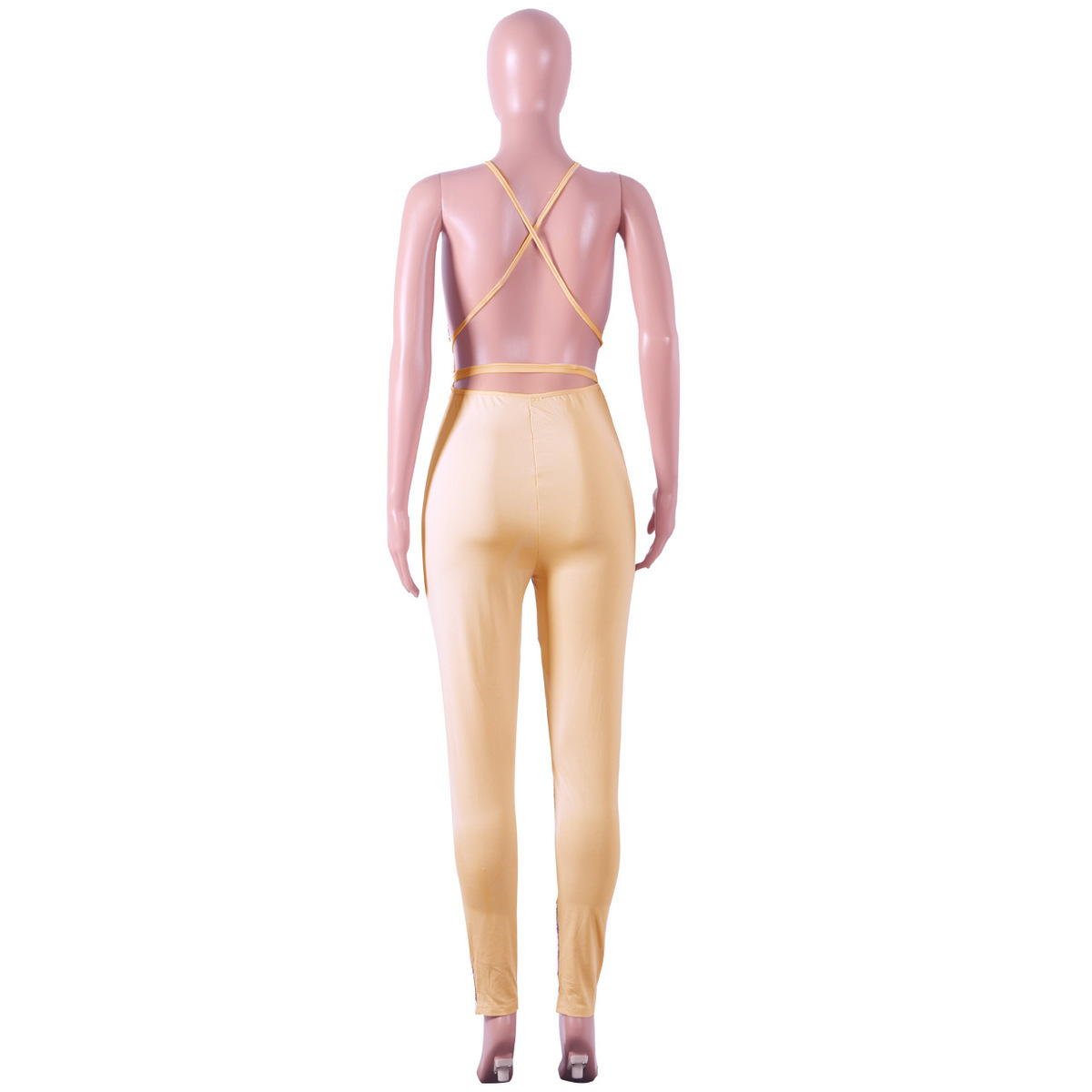 ca18c632b97 Glitz Deep V-Neck Sequin Bandage Rompers Womens Jumpsuit