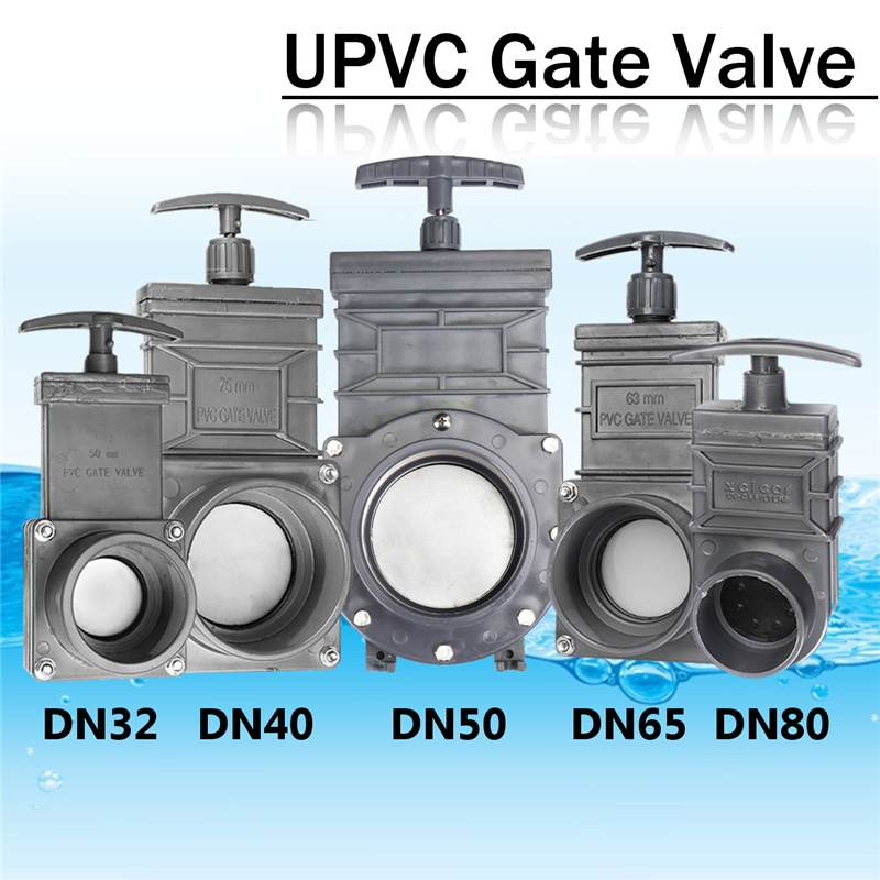 Hot DN32/DN40/DN50/DN65/DN80 UPVC EPDM Sewage Gate Valve Industry Pull Plate Mixing Valve1.5inch/2inch/2.5inch/3inch/3.5inch