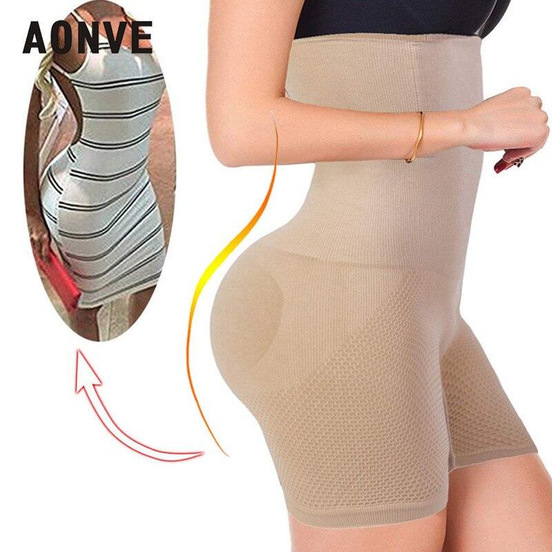 Aonve Barriga Emagrecimento Shaper Cintura Alta Shapewear Modelagem Calcinha Cinta Mulheres Bundas Lifter Shapers Plus Size Roupa Interior Feminina