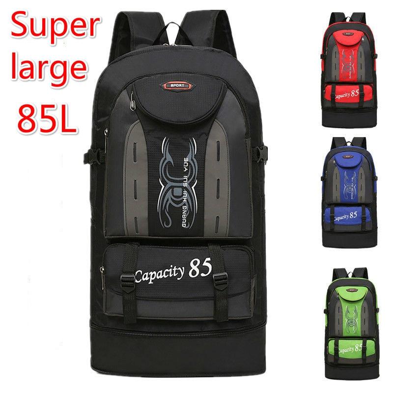 Large Backpack 80 L 85 Capacity Mountaineering Luggage Big Duffle Bag Travel Bags Shoulder Bag Weekend Waterproof