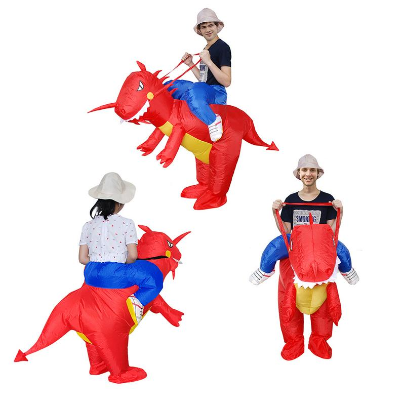 Dinosaur Inflatable Clothing Adult Kid Performance Clothing Cartoon Costume Party Halloween Christmas Family Inflatable Suit