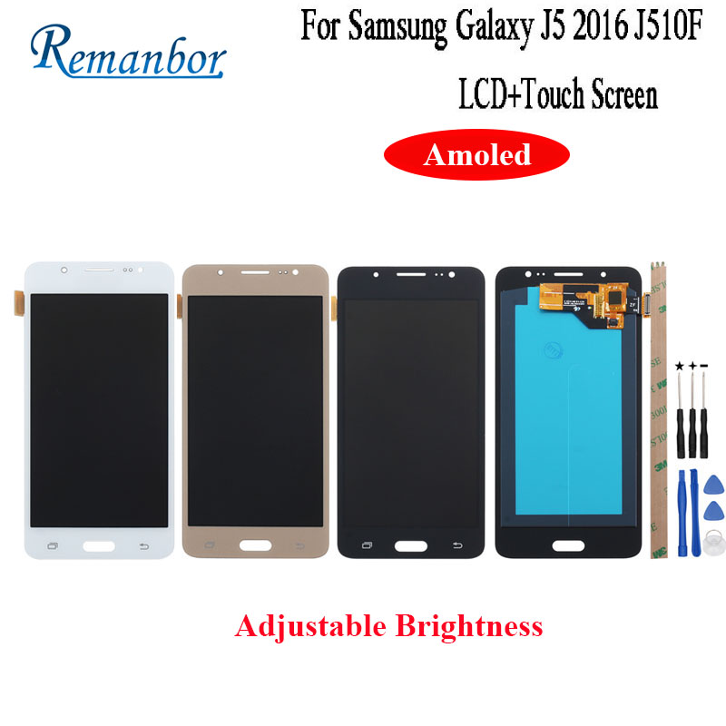 Remanbor For Samsung Galaxy J5 2016 LCD J510 J510FN J510F J510G J510Y J510M Display Touch Screen Amoled Screen Assembly +ToolRemanbor For Samsung Galaxy J5 2016 LCD J510 J510FN J510F J510G J510Y J510M Display Touch Screen Amoled Screen Assembly +Tool