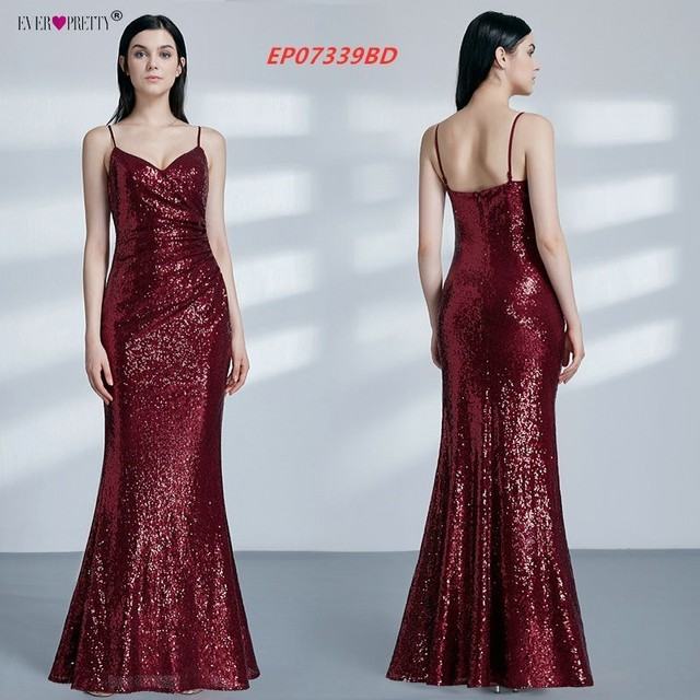 Gold Long Evening Dress Ever Pretty Back Cowl Neck EP07110GD Shine Sequin Sparkle Elegant Women 2019 Evening Party Gowns 3