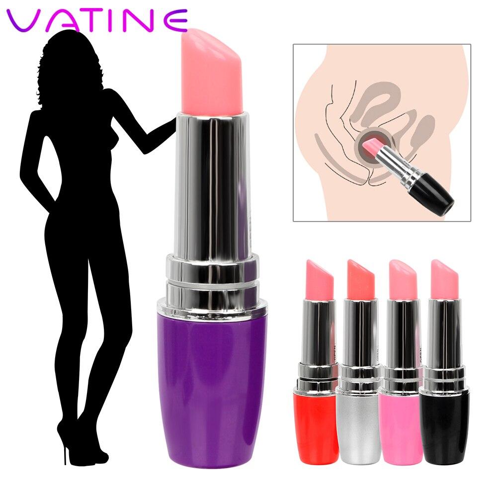 VATINE Mini Lipstick Vibrator Machine Products Waterproof Jump Egg Bullet Clitoral Stimulation Sex Toy For Woman Discreet Quiet