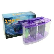 Mini Small Fish Tank Aquarium Durable With Grass Acrylic Plastic For Home Office WXV Sale