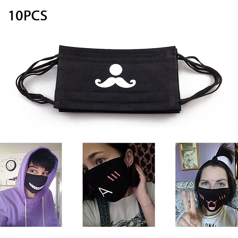 10 pcs Anti-poeira Máscara Facial Nova Moda Boca Máscara Mufla Boca Bonito  E Engraçado 84eb6f1a848
