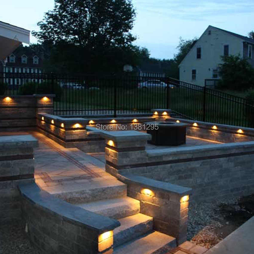 12v Ac Dc Low Voltage Outdoor Led Landscape Lighting Hardscape Step Deck Retaining Wall Light Led Light Bar Mounting Bracket Outdoor Landscape Lighting Aliexpress