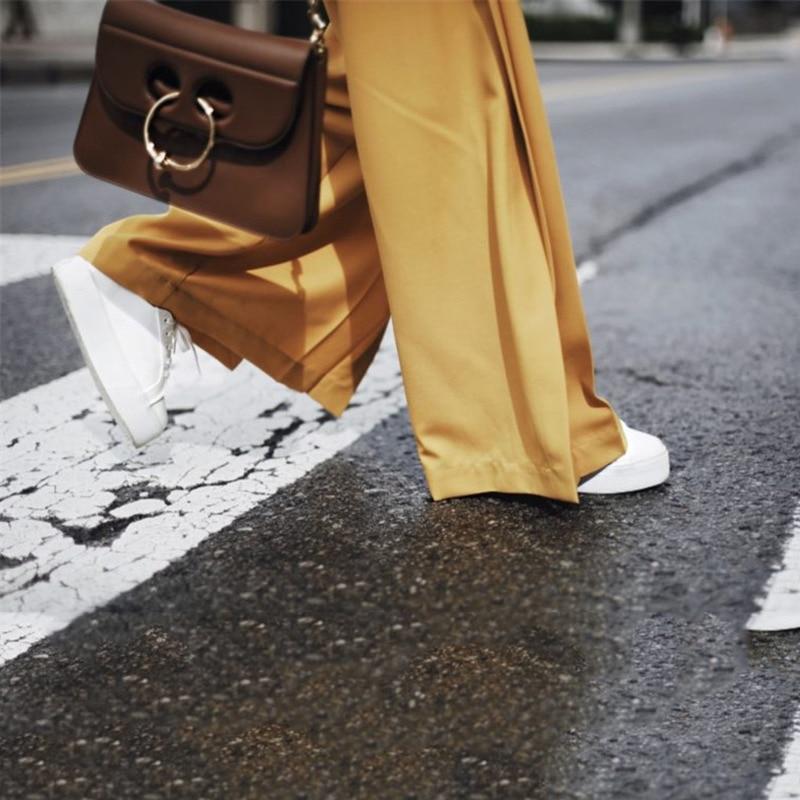 Vêtements Irrégulier Femmes Décontracté Manches Jaune Pleine Nouveau Bureau Ta062 Pour Automne 2018 Yellow Dame Pantalon Lâche Mode Manteau Deat Costume YxqwI6CB