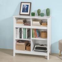 SoBuy FSB15 W, White Sideboard Cupboard Storage Cabinet Unit End Book Shelves