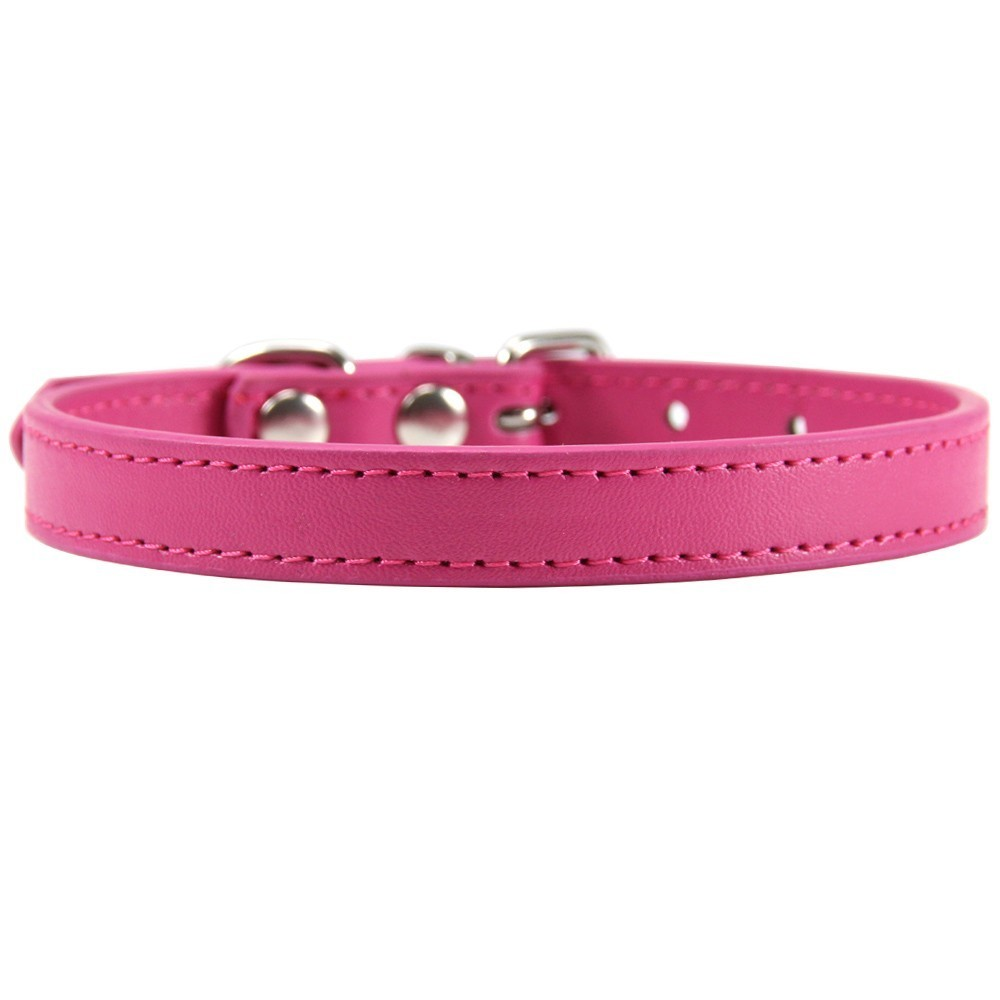 cat accesories Pink PU leather XS S M L XL safety name personalized chihuahua necklace Small cat leash cat harness cat collar in Cat Collars Leads from Home Garden
